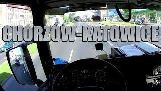 Jazda tirem przez Chorzów do Katowic