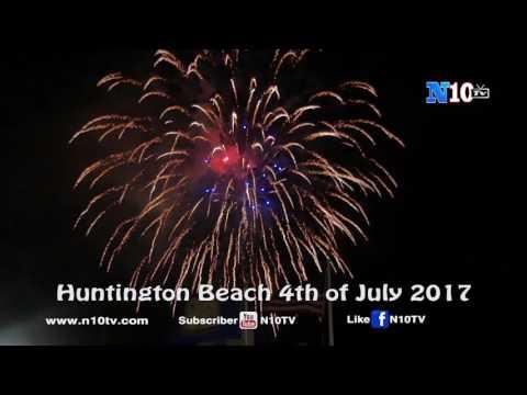 Fireworks 4th of July - Huntington Beach  - Califonia 2017