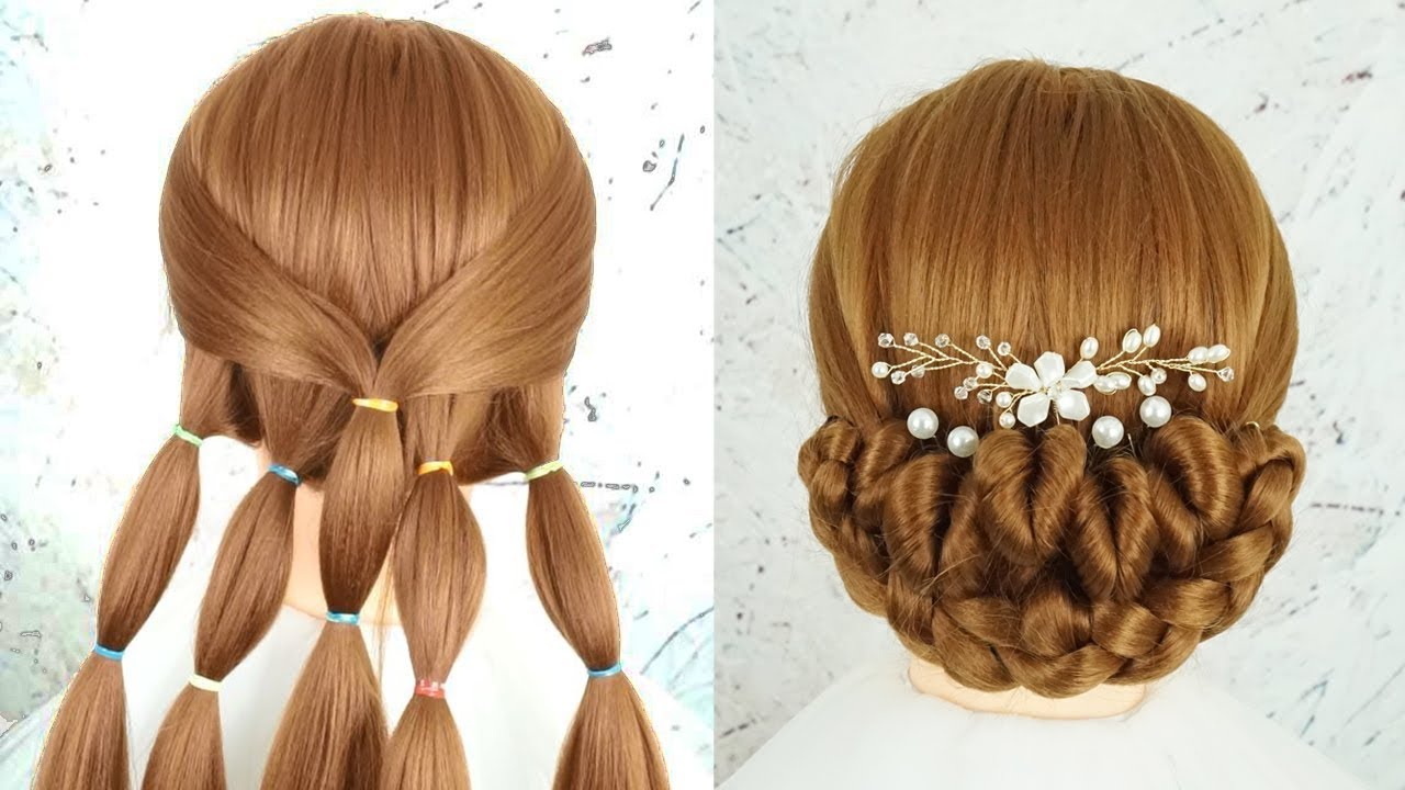 Bun Hairstyle For Wedding Step By Step Beautiful Hairstyle Prom Hairstyle New Bridal Hairstyle