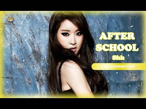 Line Distribution: After School - Shh (Color Coded)