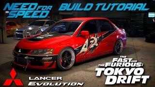 Need for Speed 2015 | Tokyo Drift Sean's Mitsubishi Evo Build Tutorial | How To Make