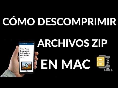 ¿Cómo Puedo Descomprimir Archivos Zip en Mac?