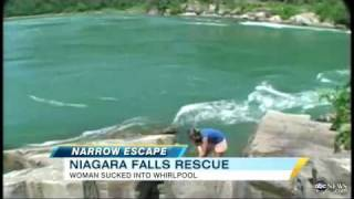 !!NIAGARA FALLS RESCUE WOMEN SUCKED INTO WHIRLPOOL!!