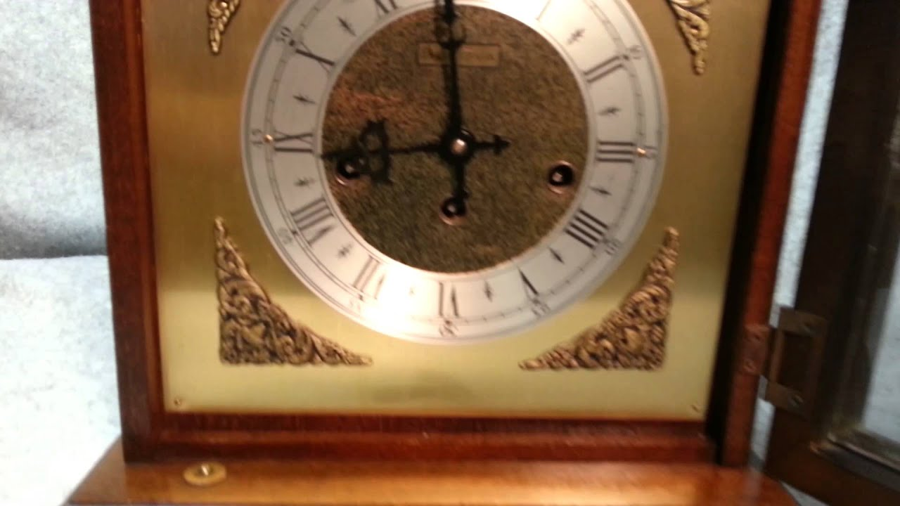 Bulova Westminster Chime 8day bracket mantel clock YouTube