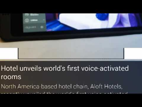 Hotel unveiled world First Voice Activated Rooms in North America