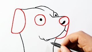 How to draw a dog from the word dog (Wordtoons)
