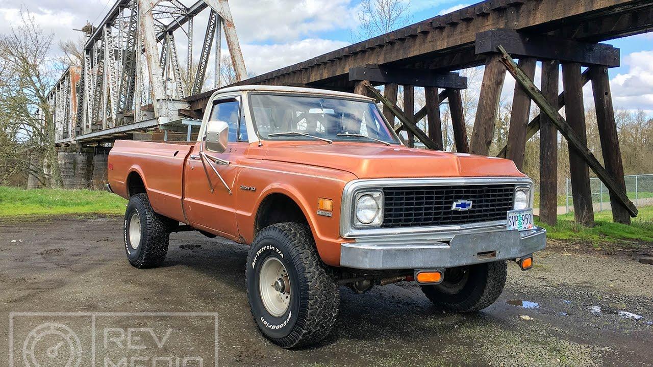 1971 Chevy k20 Original Longbed 4x4 - YouTube
