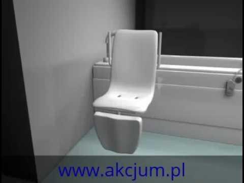Ogromnie AKCJUM: Łazienka dla niepełnosprawnych. Wanna z podnośnikiem - YouTube DA45