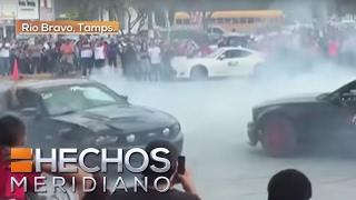 Video: Auto deportivo atropella a seis en exhibición en Tamaulipas
