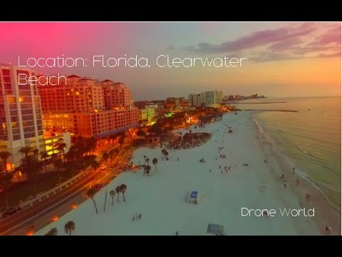Clear water beach, Florida by Drone - Beautiful Drone Video