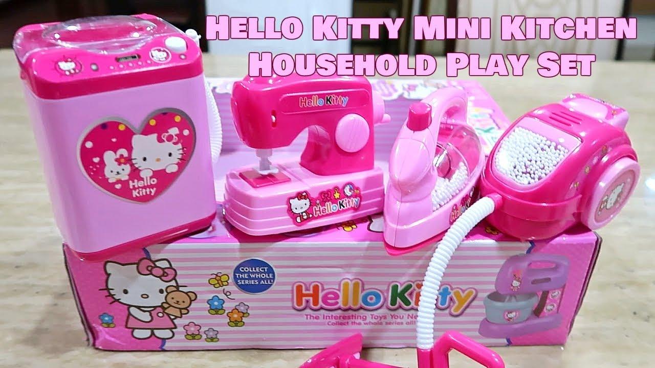 Hello Kitty Mini Kitchen Household Play Set For Kids Youtube
