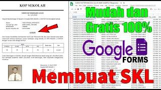 Berhasil, Membuat Surat Keterangan Lulus Dengan Google Form  Hanya Preview