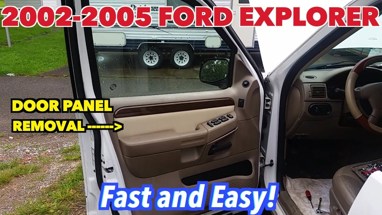 Ford Explorer 2002 2005 Driver Side Door Panel Removal Fast And E A S Y Youtube