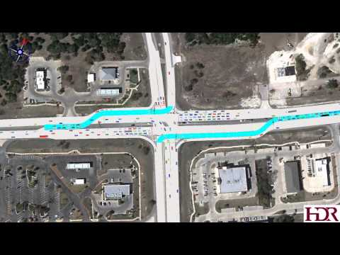 Continuous Flow Intersection Visualization at RM 1431 and Parmer Lane
