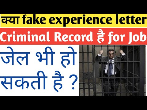 Apply fake experience is a criminal record in company for job
