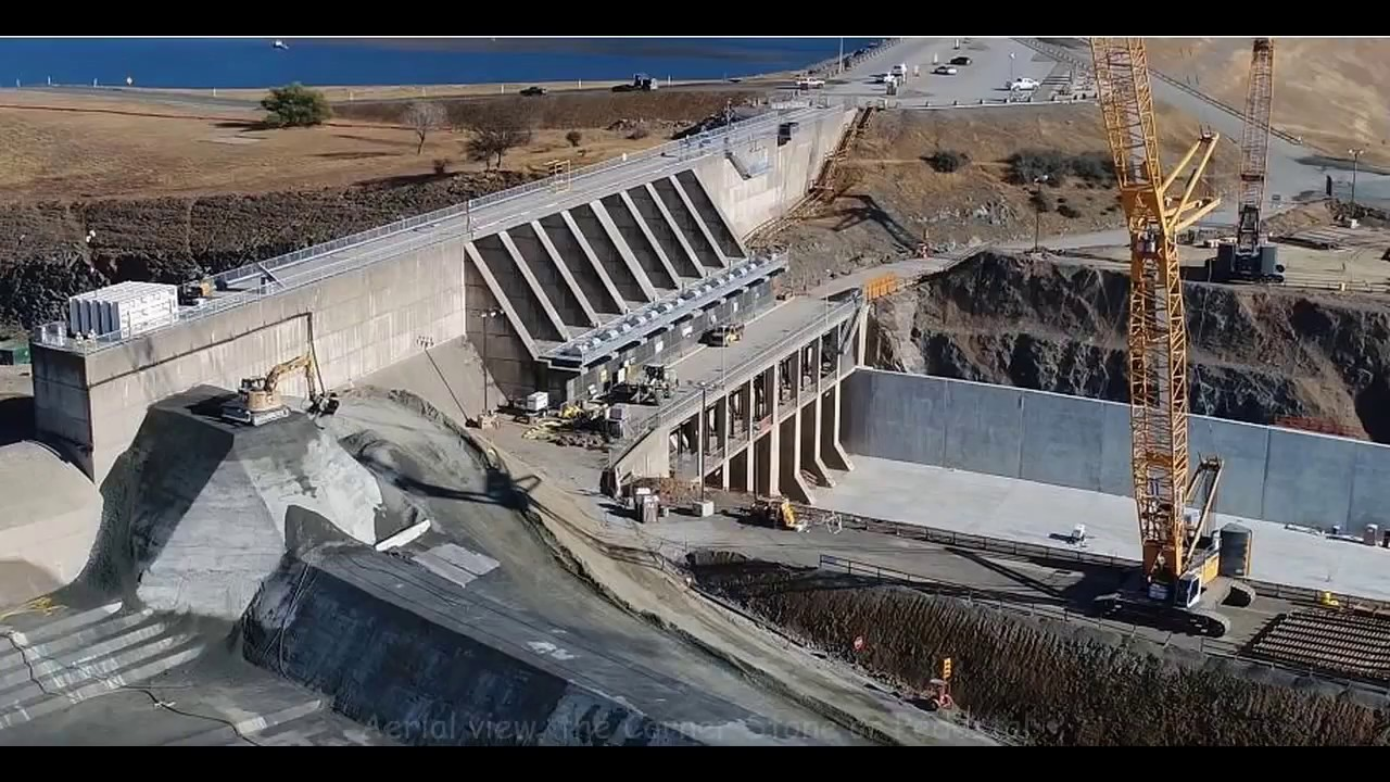 Oroville Dam Rebuild Update - Nov 3 2018 - Emergency Spillway is complete!
