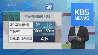 [생활경제] '온누리상품권' 활용법 / KBS뉴스(Ne…
