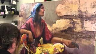 Пишем цыганку, научиться писать женский образ, мало, картина на заказ, уроки Сахарова