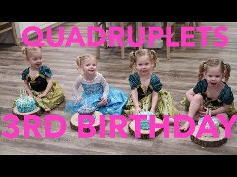 QUADRUPLETS 3RD BIRTHDAY!