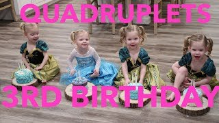 QUADRUPLETS 3RD BIRTHDAY!