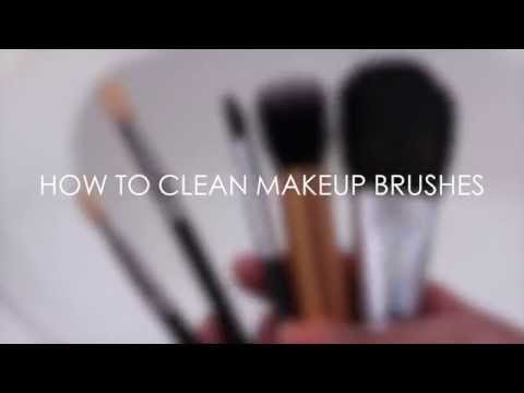 TUTORIAL   How To Clean Makeup Brushes