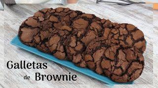 GALLETAS de BROWNIE  Deliciosas Galletas de Chocolate!!  Fugde Brownie Cookies Recipe