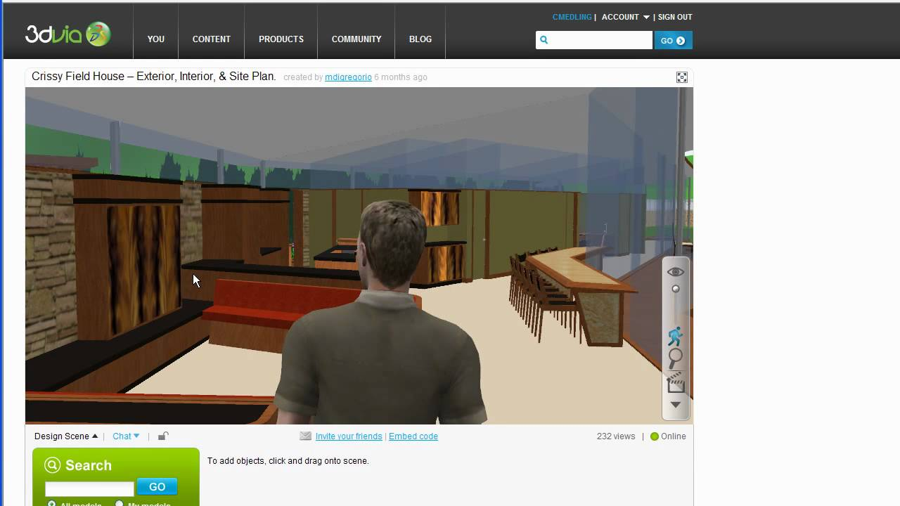 Create 3d Walkthroughs Of Sketchup 3d Models Online Youtube