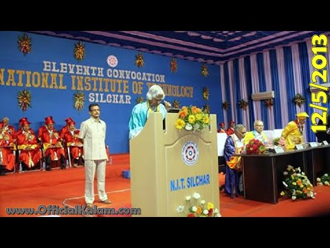 Dr. A.P.J. Abdul Kalam at Annual Convocation of NIT, Silchar