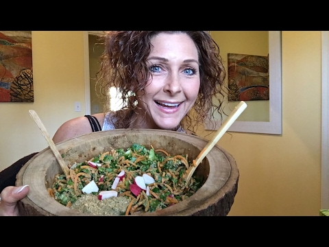 RAW VEGAN MUKBANG -- Let have dinner together -Q&A's?