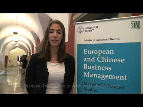 University of Zurich MAS European and Chinese Business Management