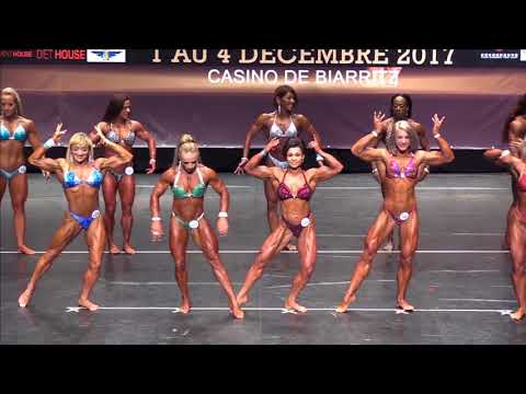 Women's Physique up to 163 at the IFBB World Fitness Championships 2017 (Biarritz), comparison 1