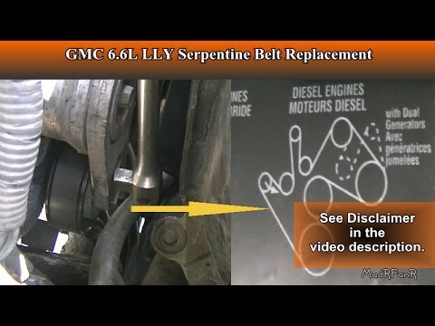 duramax 6 6l lly serpentine belt replacement for beginners