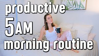 How to Wake Up at 5am | productive + healthy morning routine 2019