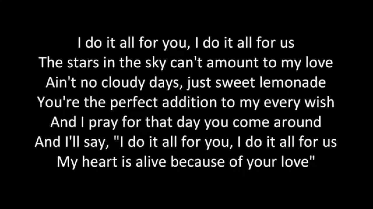 SoMo - I Do It All For You w/ lyrics - YouTube