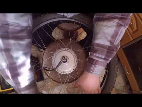 Спицовка мотор колеса для электровелосипеда в два креста