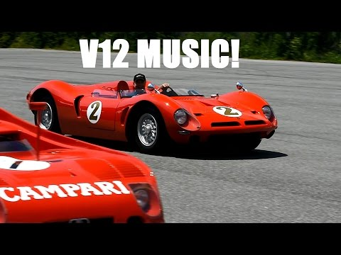 V12 MUSIC of the Ferrari 375MM, BIZZARINI P538 & Auburn V12