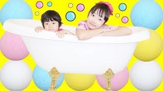 ★「バスボール50個投入~!!」いったい何色になるの??★50 Bath ball★ thumbnail