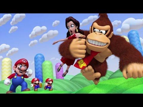 Mario Vs. Donkey Kong: Tipping Stars - World 1 Rolling Hills 100% Walkthough