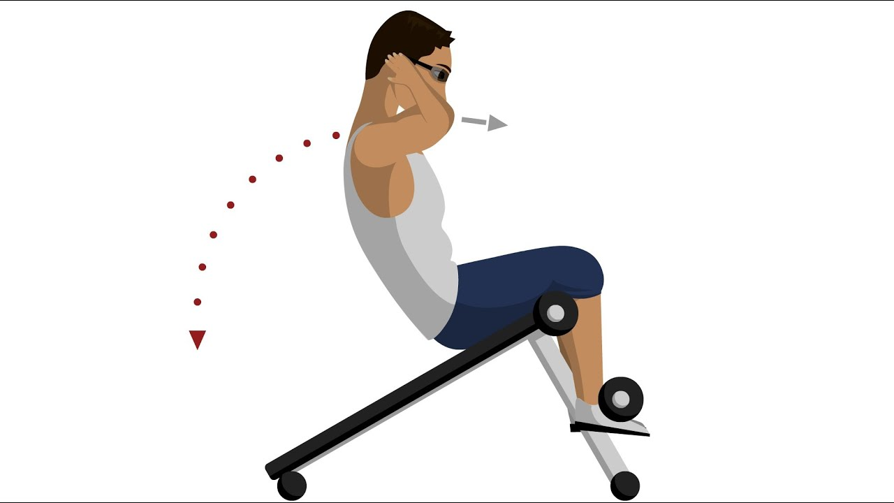 Incline Sit Up Abdominal Exercises Youtube