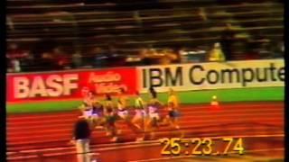 EUROPEAN CHAMPIONSHIPS 1986 10000M FINAL STUTTGART Mats Erixon