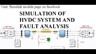 simulation of hvdc system in simulink and fault analysis