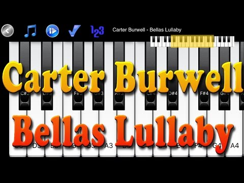 Carter Burwell - Bellas Lullaby - How to Play Piano Melody