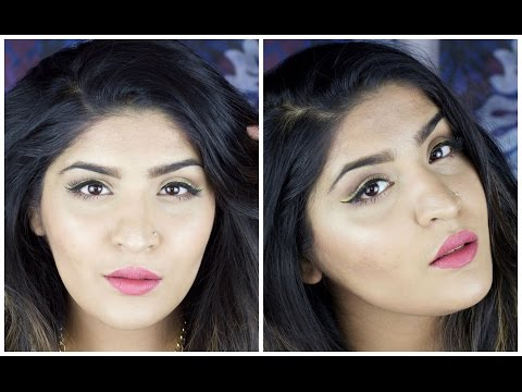Full Face of First Impressions   Brush Edition   PAC Brushes   Yellow winged liner tutorial