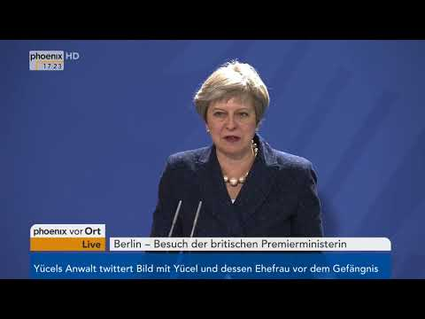Pressekonferenz mit Angela Merkel und Theresa May vom 16.02.2018