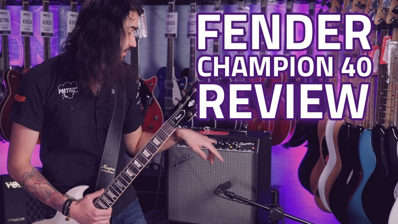 Fender Champion 40 Guitar Amplifier Combo - Demo Review on