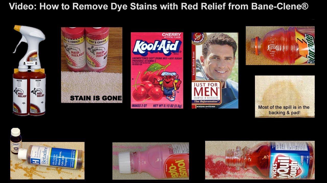 how to remove kool aid and other food dye stains from carpet using red relief youtube. Black Bedroom Furniture Sets. Home Design Ideas