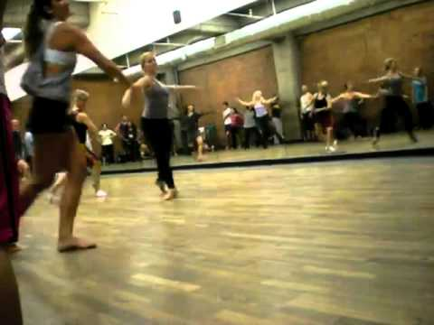 Jazz class at edge performing arts center