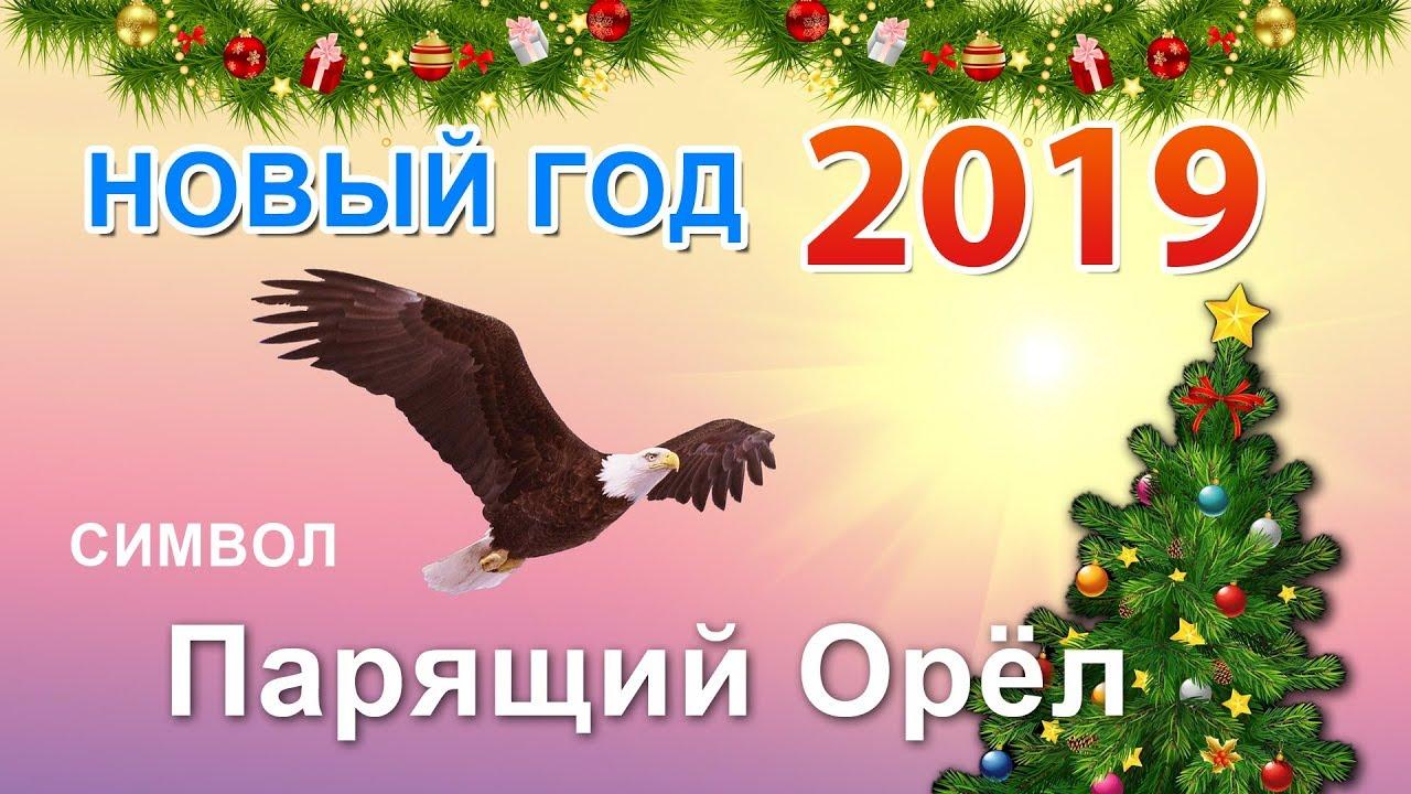 Открытки символ года 2019 парящий орел