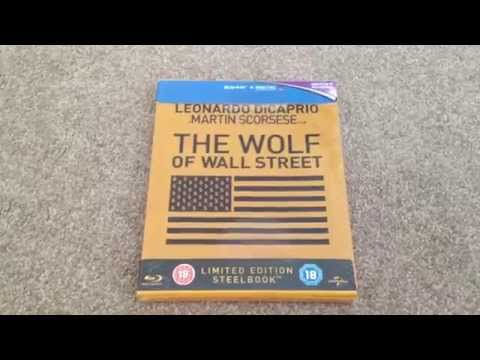 The wolf of wall street UK Blu-ray steelbook unboxing