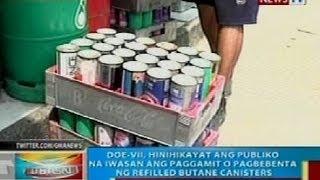 BP: DOE-VII, hinihikayat ang publiko na iwasan ang paggamit ng refilled butane canisters